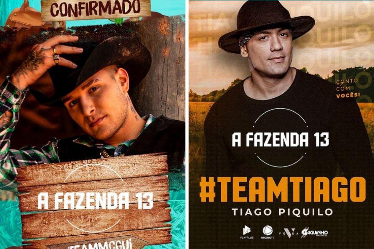 MC Gui e Tiago Piquilo montagem A Fazenda