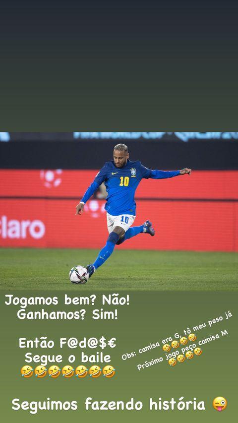 Neymar jogando pelo Brasil