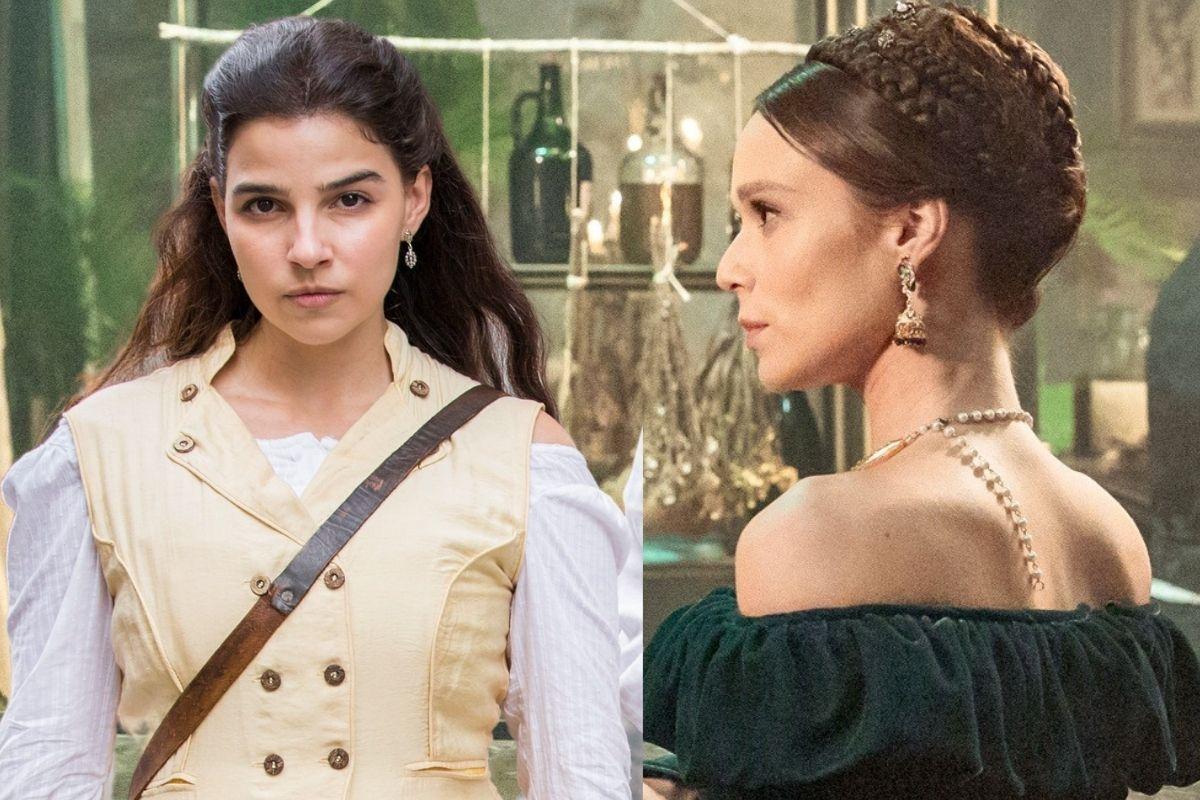 Nos Tempos do Imperador: Pilar é hostil com Luísa.