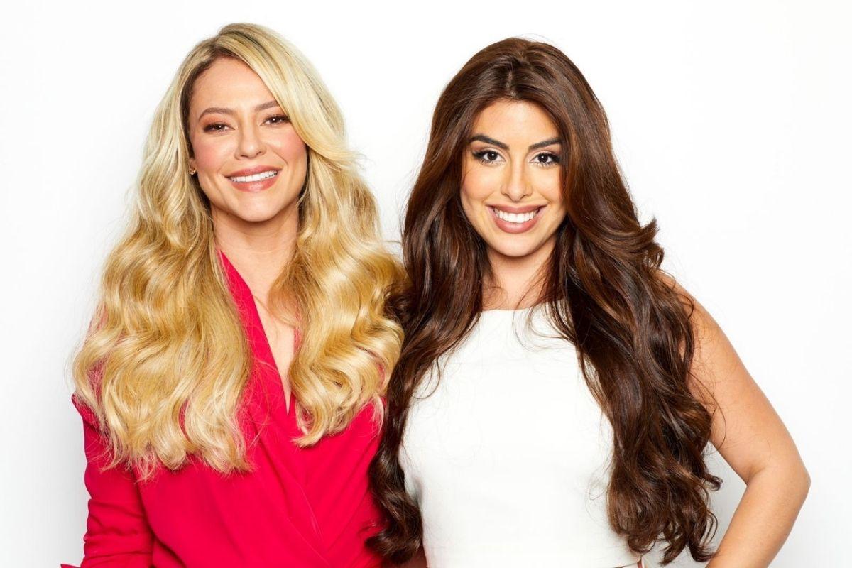 Paolla Oliveira e Pamela Drudi em ensaio de campanha publicitária