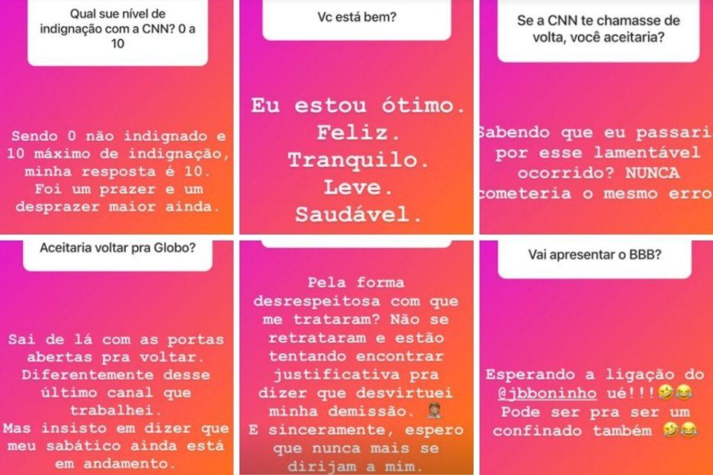 respostas de Evaristo Costa
