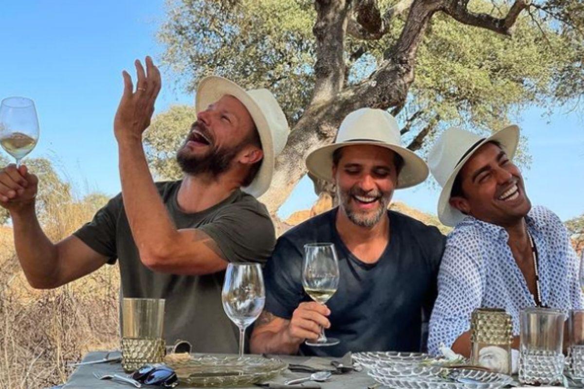 Juntos Rodrigo Hilbert, Bruno Gagliasso e Ricardo Pereira
