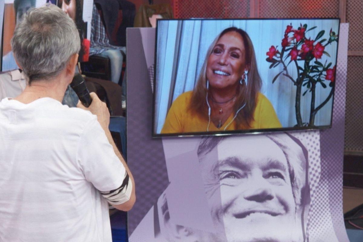 Susana Vieira com Serginho Groisman no Altas Horas