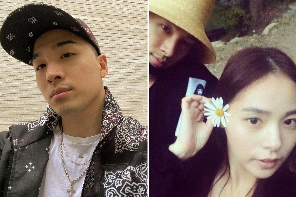 Fotomontagem com cliques de Taeyang e Min Hyo-rin
