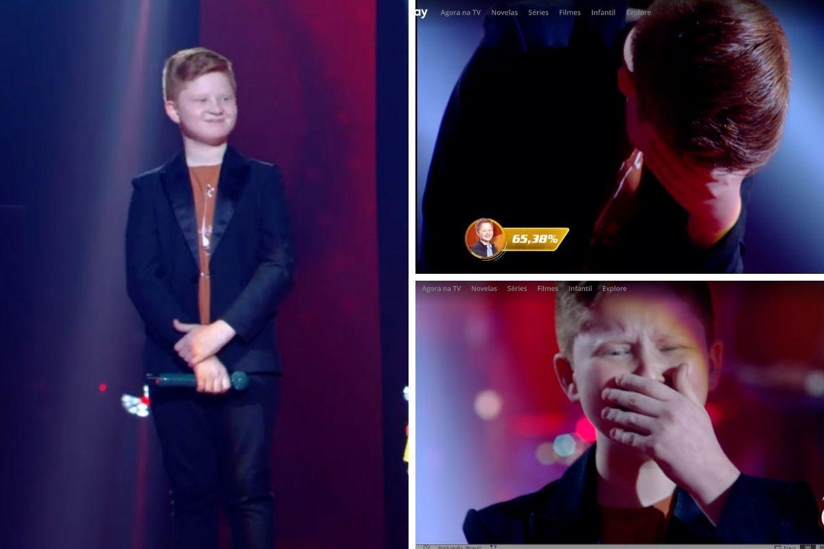 Gustavo Bardim vencedor do The Voice Kids'