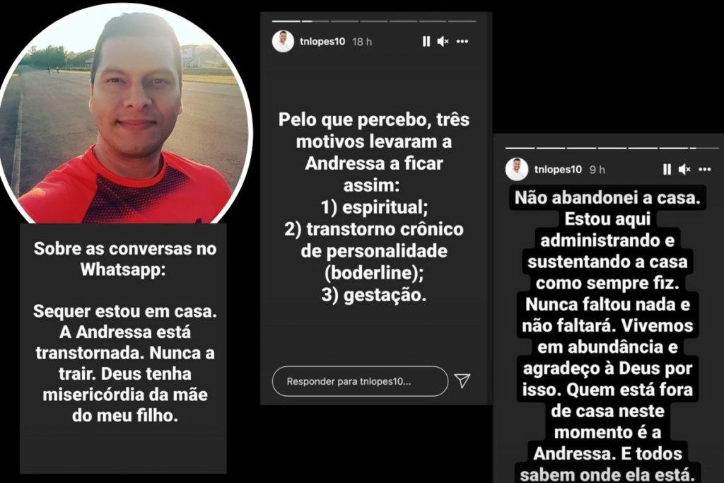 Ex-marido acusa Andressa Urach de se prostituir grávida: 'Orando por meu filho'