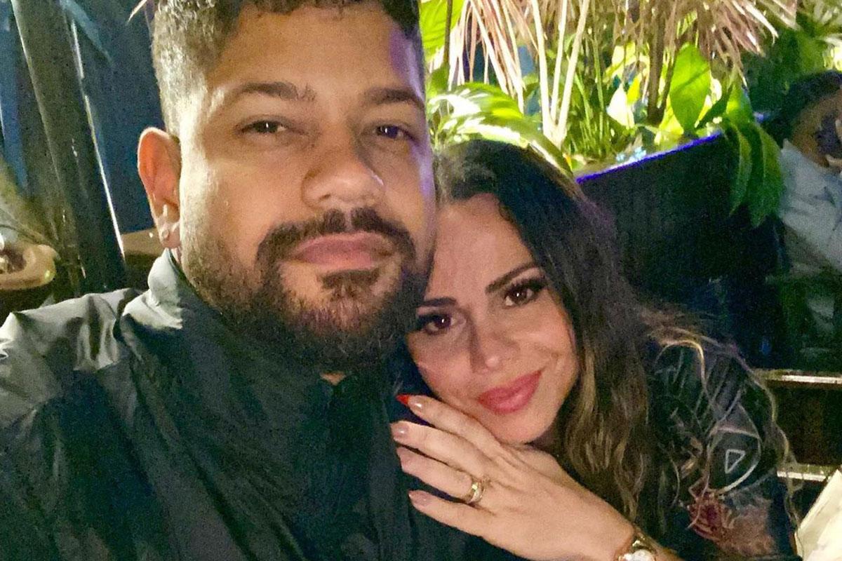 Viviane Araujo com o noivo Guilherme Militão