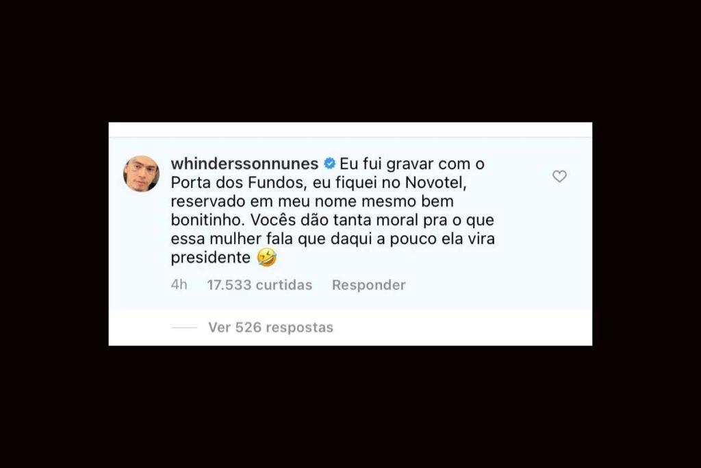 Whindersson Nunes se pronuncia sobre suposto encontro com Luísa Sonza