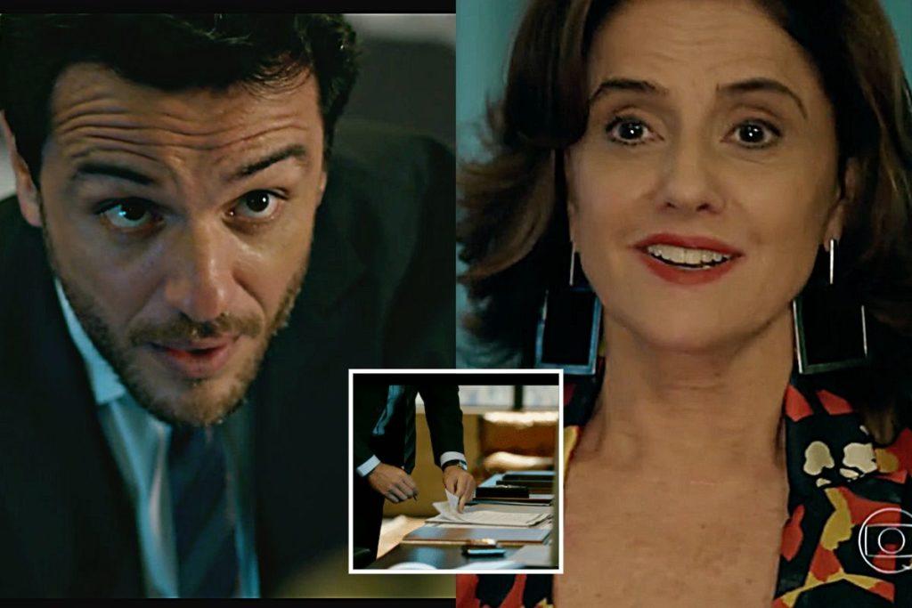 Alex (Rodrigo Lombardi) e Fanny (Marieta Severo) em Verdades Secretas