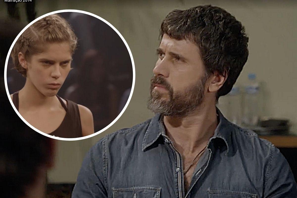 Gael (Eriberto Leão) fala para Karina (Isabella Sotoni) que não deixará ela entrar no ringue para lutar no Warriors
