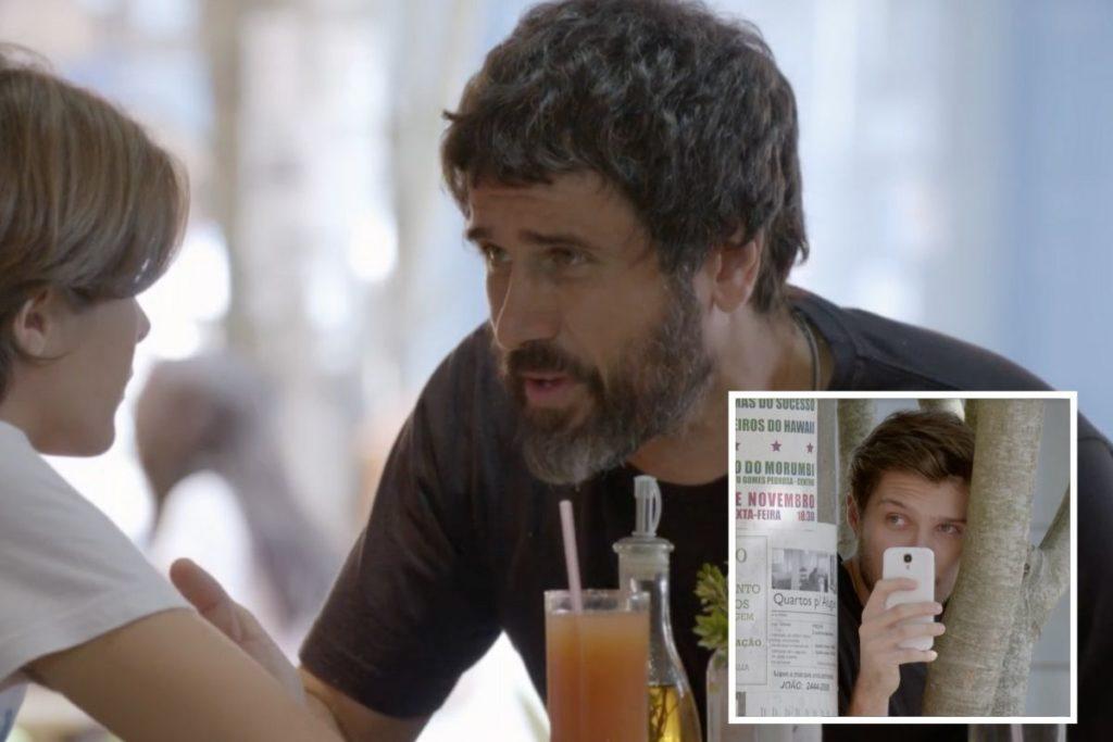 Malhação - Luiz fotografa Gael e Karina juntos e manda as fotos para Lobão