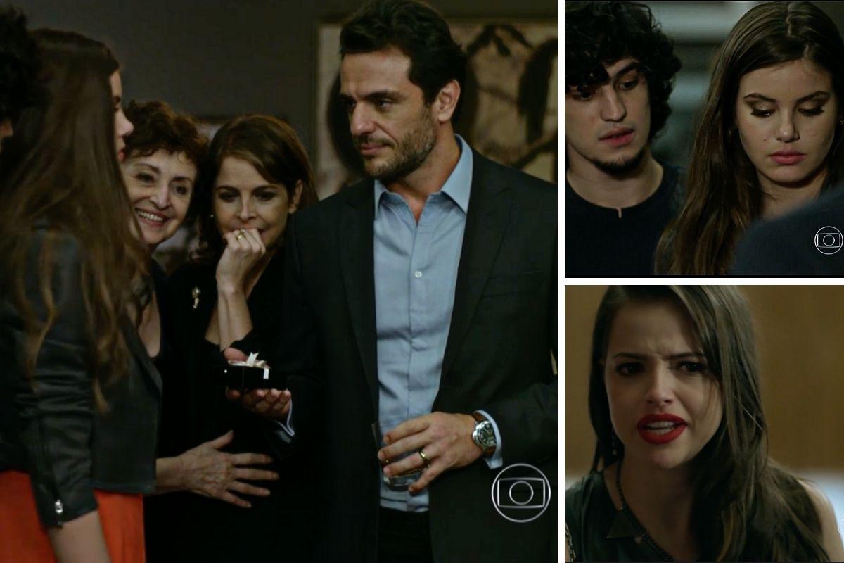 Alex (Rodrigo Lombardi) dá uma joia para Angel (Camila Queiroz)