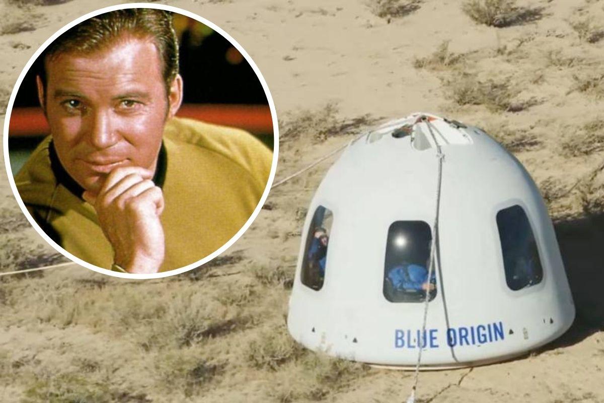 Atr de 'Star Trek' vai ao espaço
