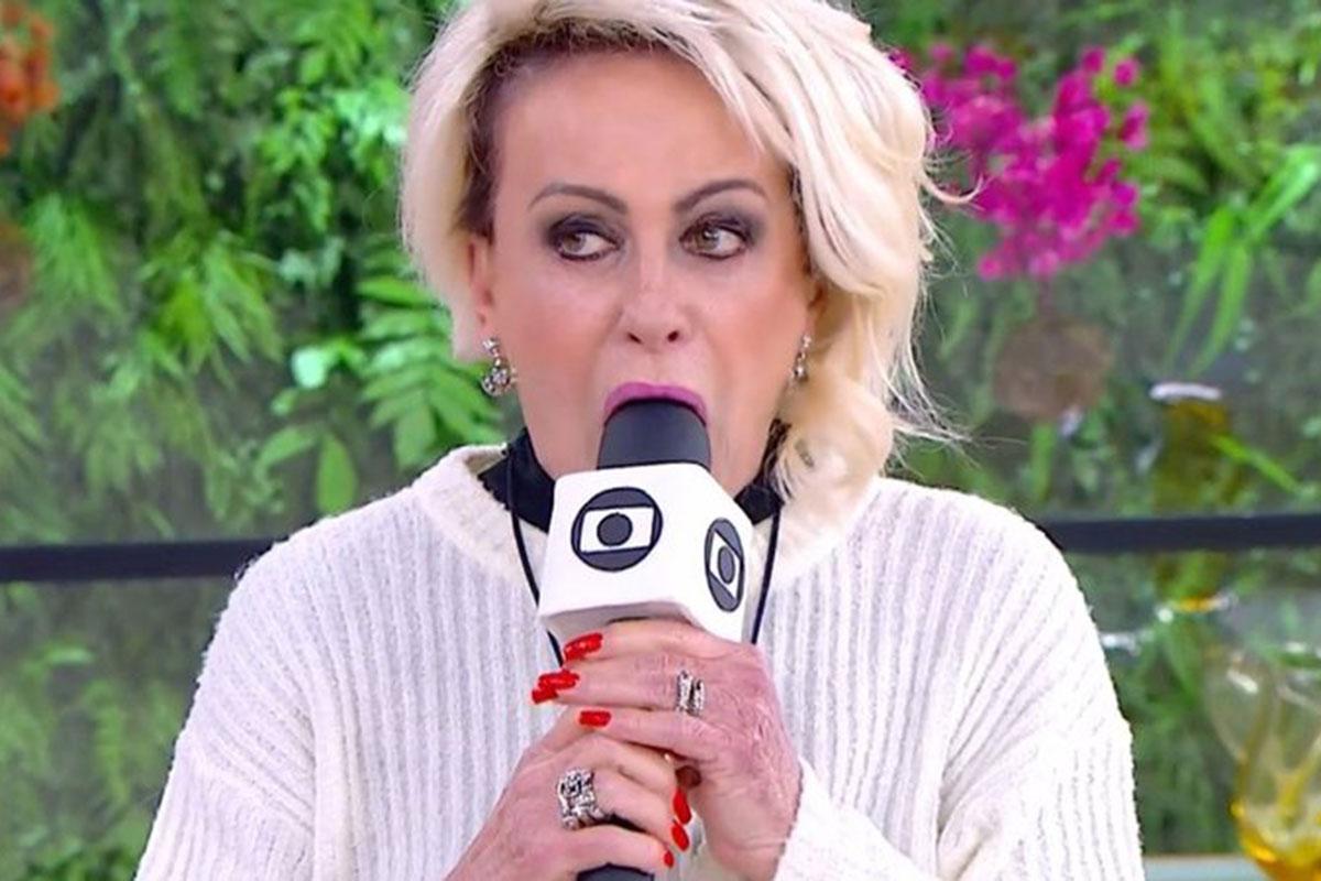 Ana Maria Braga morde microfone ao vivo e assusta público