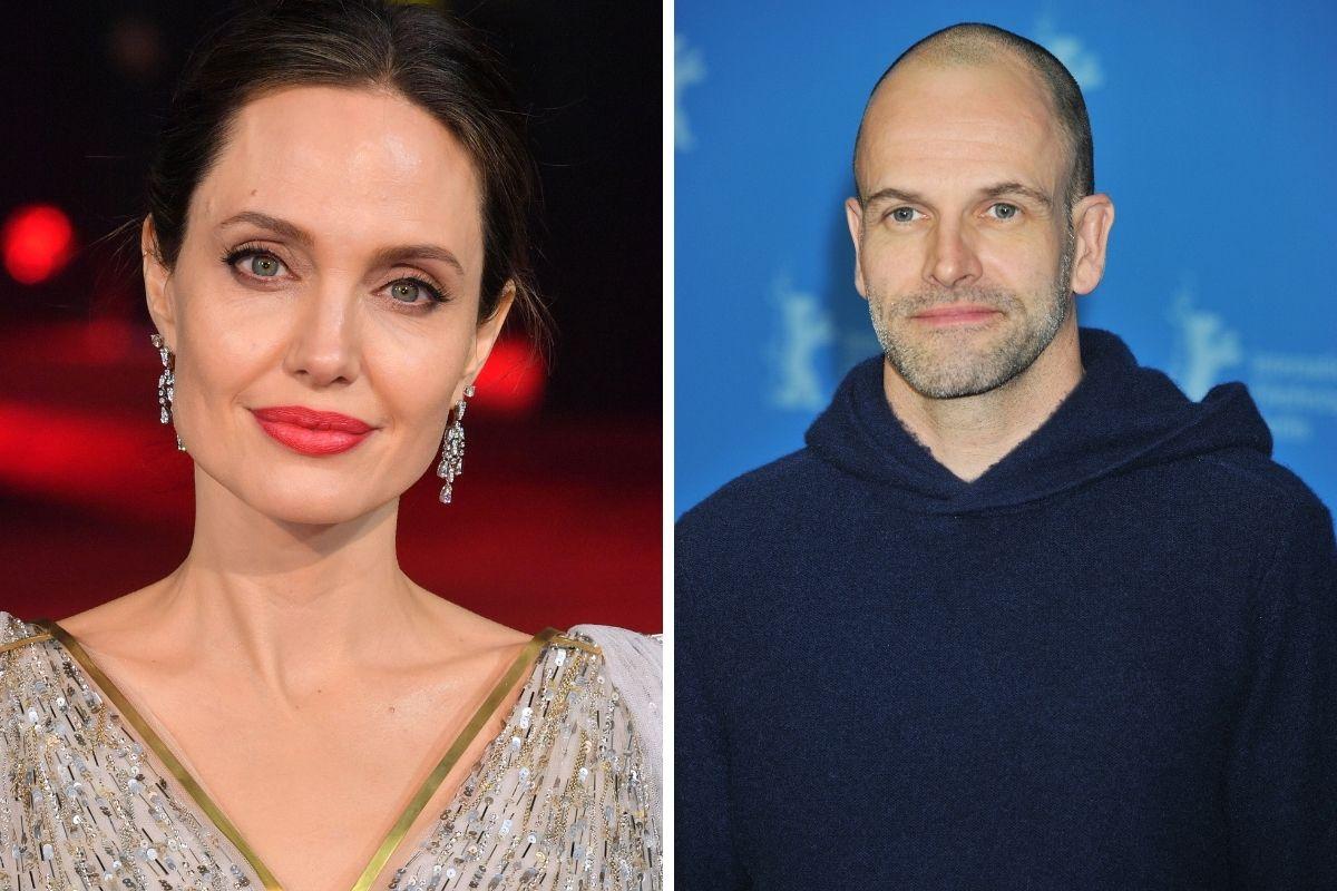 Angelina Jolie e o ex-marido Johnny Lee Miller