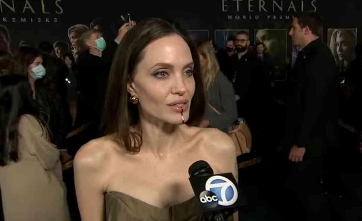 Angelina Jolie na estreia de Eternos