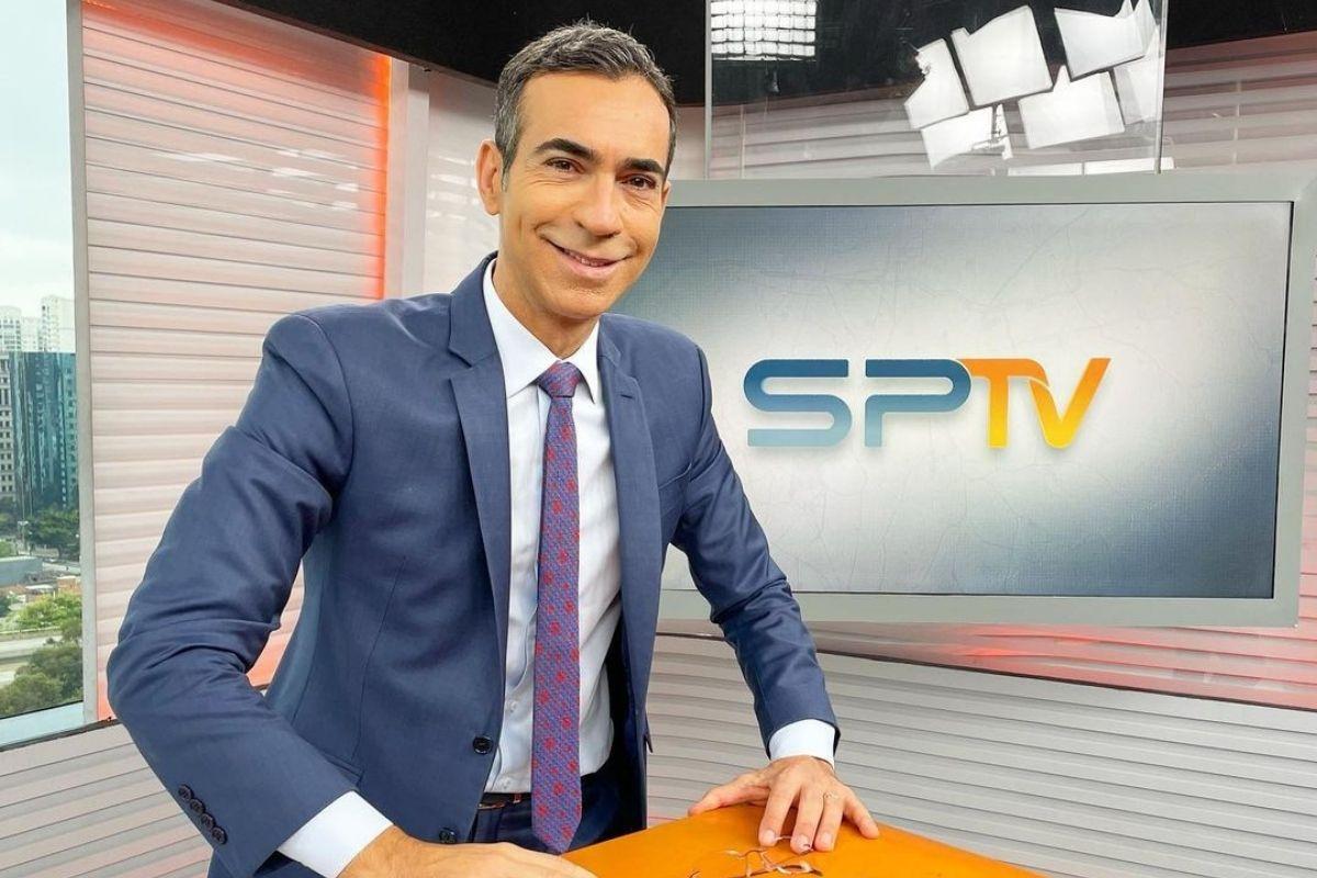 César Tralli no SP1, da Globo