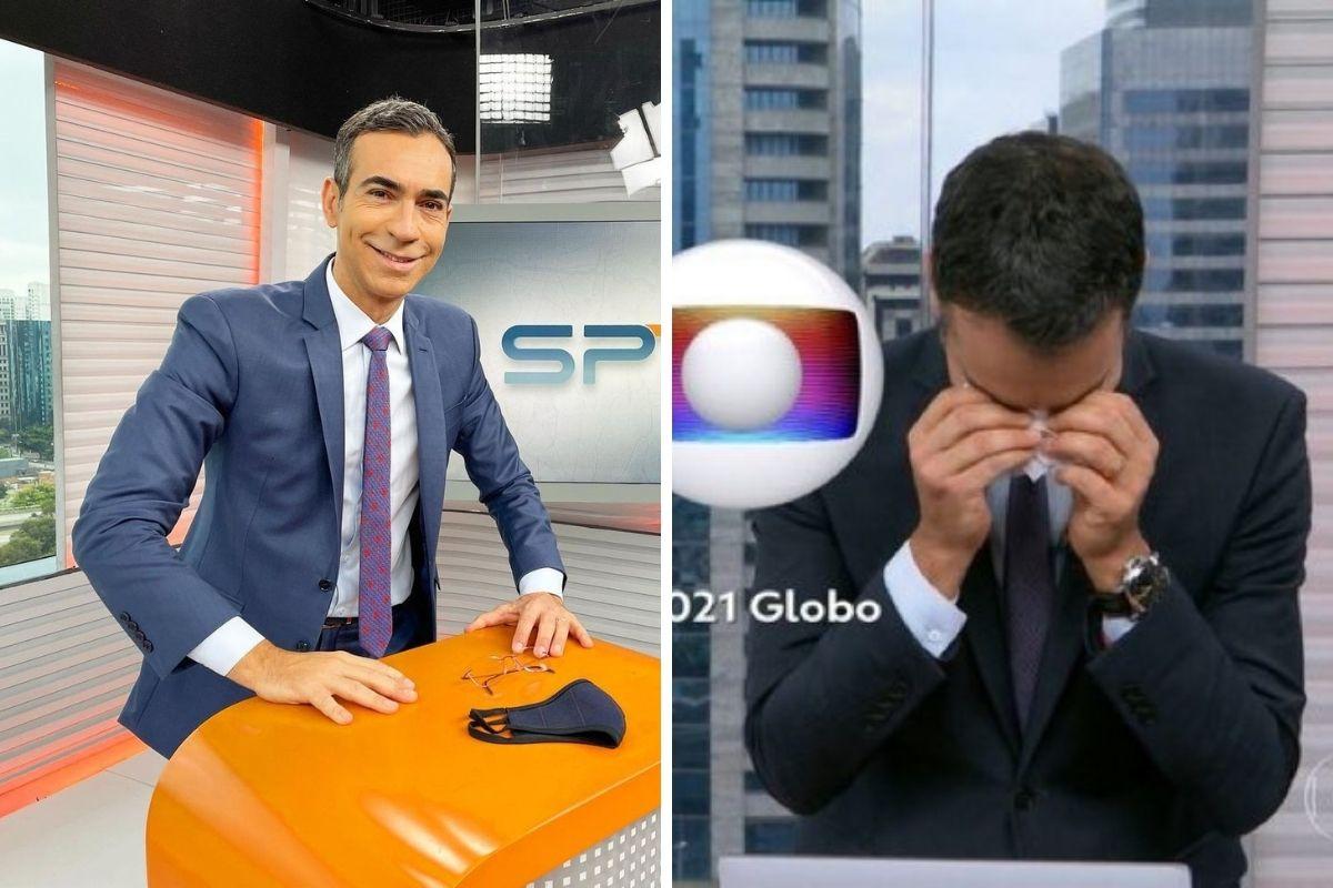 César Tralli chora ao se despedir do SP1