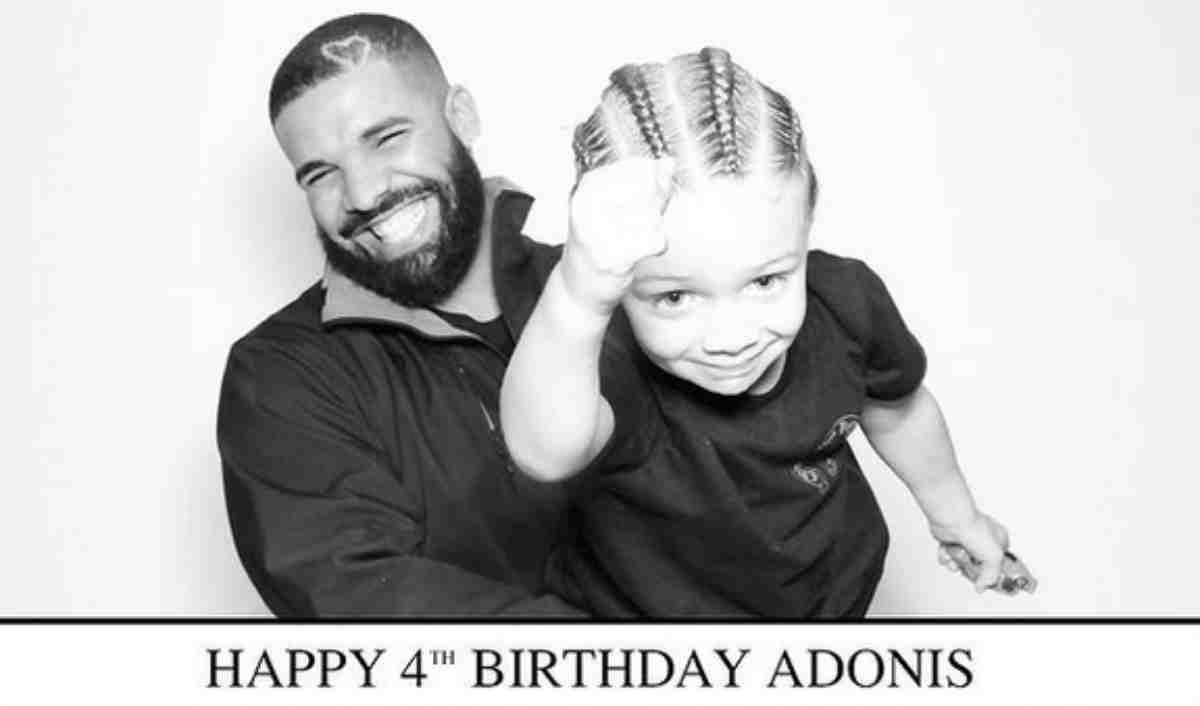 Drake com o filho Adonis