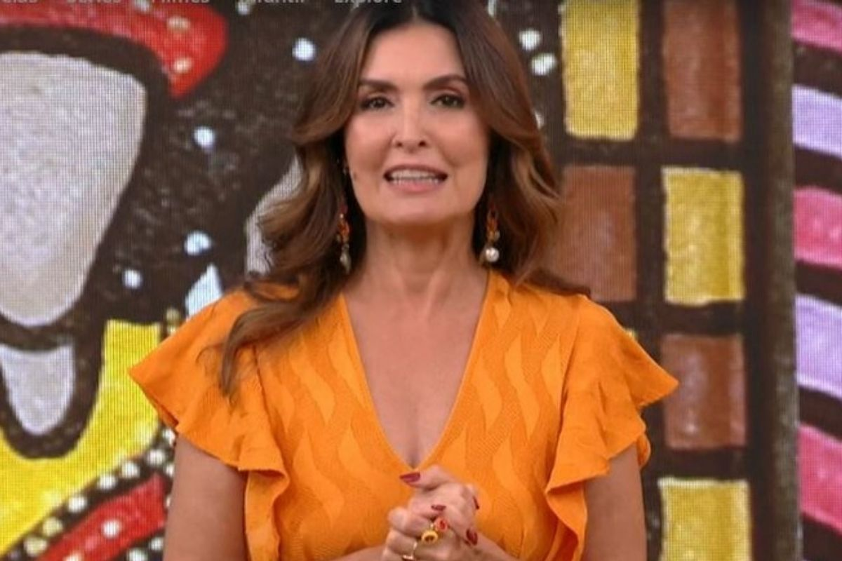 Fátima Bernardes no programa Encontro