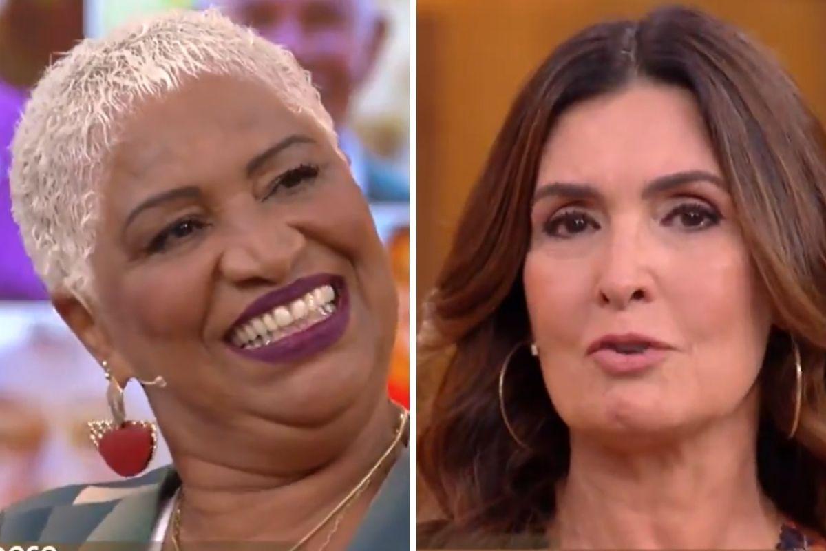 Fátima Bernardes se emociona durante programa no Dia do Idoso