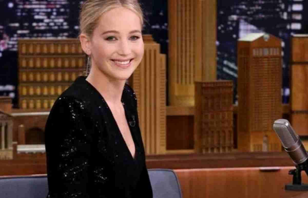 Jennifer Lawrence em programa de entrevistas