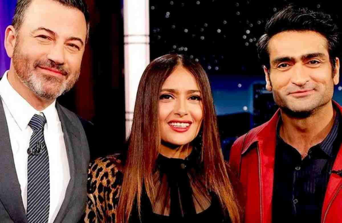 Jimmy Kimmel, Salma Hayek e Kumail Nanjiani