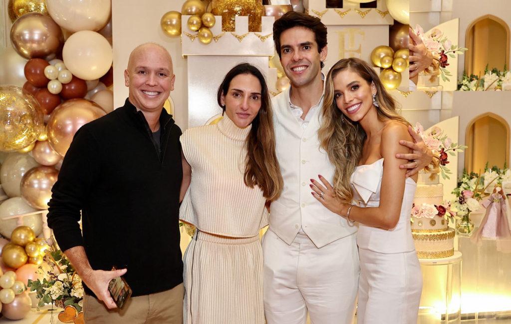 Caio Ribeiro e a esposa ao lado de Kaká e Carol Dias