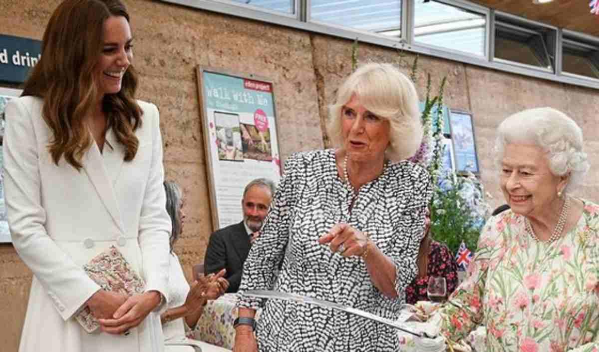 Kate Middleton, Camilla Parker-Bowles, Rainha Elizabeth