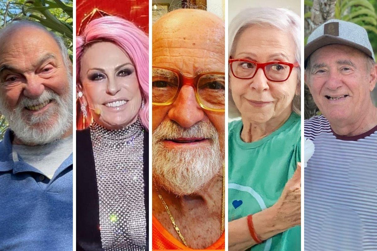 Lima Duarte, Ana Maria Braga, Ary Fontoura, Fernanda Montenegro e Renato Aragão