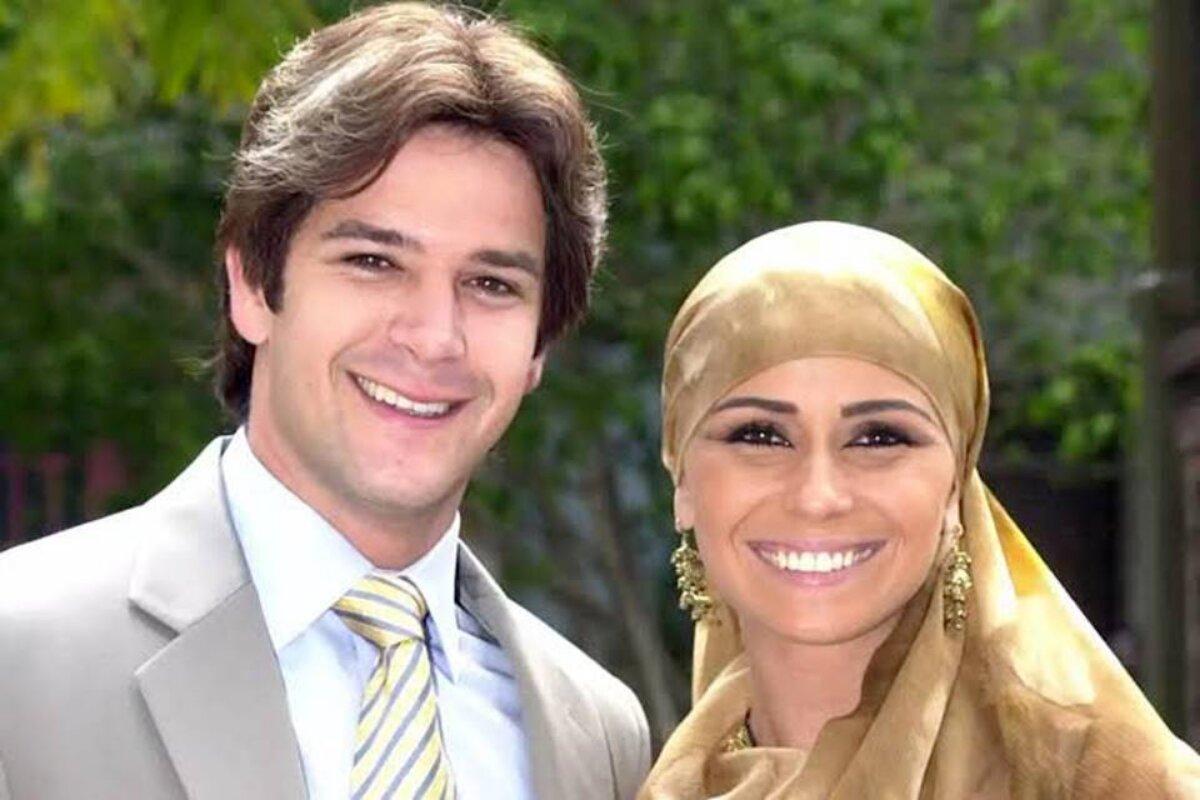Murilo Benício e Giovanna Antonelli como Lucas e Jade em O Clone
