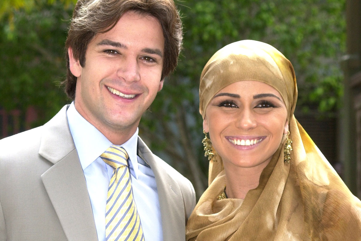 Murilo Benício e Giovanna Antonelli, em O Clone