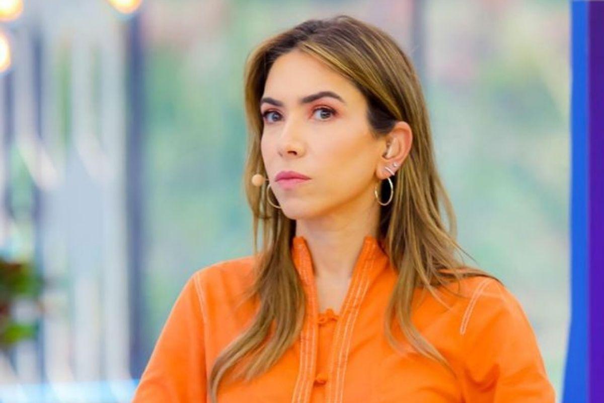Patrícia Abravanel em apresentaçãom do programa Vem Pra Cá