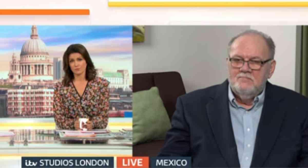 Thomas Markle em entrevista à TV inglesa