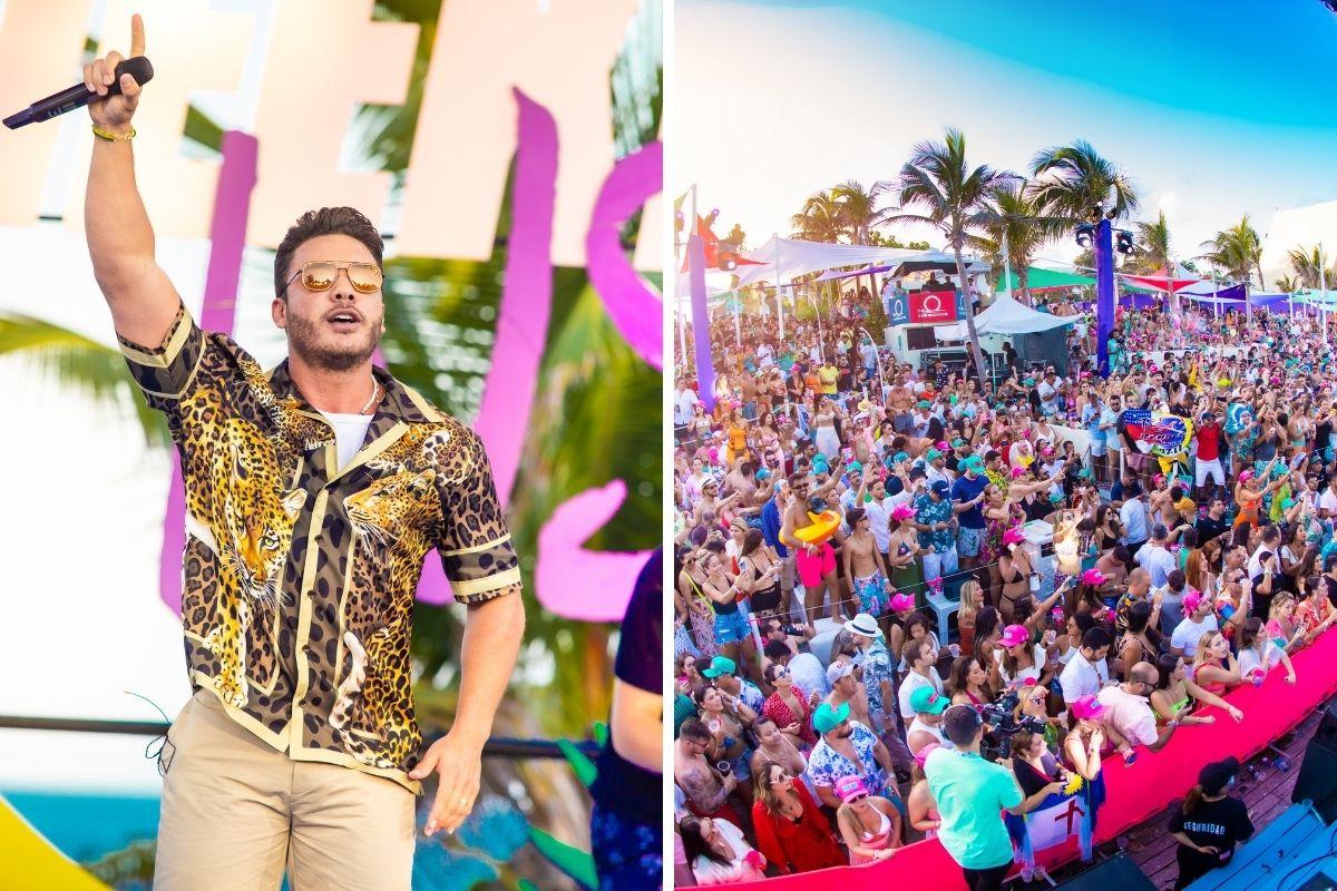 Wesley Safadão em show em Cancún, no México